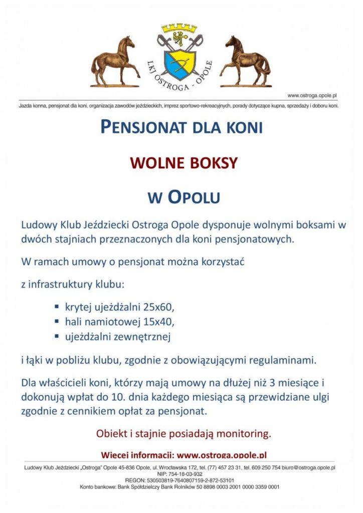 Wolne boksy Ostroga